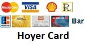 Wir akzeptieren die wichtigsten Kreditkarten, sowie EC-Karten